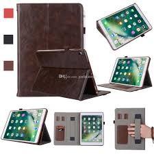 half genuine leather tablet cases for ipad pro 10 5 ipad pro 9 7 cover case shockproof stand dormancy pu leather case tablet 10 case 8 in tablet cases from