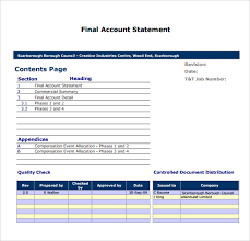 account statement templates sample statement of account 10 documents in pdf