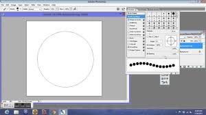 The easy solution to make dotted lines in photoshop is to use brushes and path. Newbie Know How Photoshop Dotted Circle Tutorial Youtube