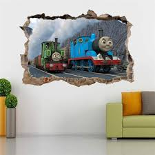 thomas the tank friends smashed wall decal graphic wall sticker decor art h317 home