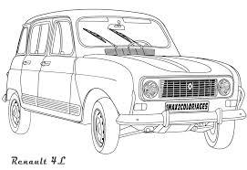 Renault 4 L Auto Renault Pinterest Voitures Dessin