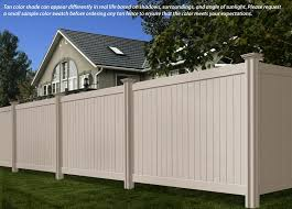 Image Colors 6ft 7ft Steady Freddy Vinyl Fence tan Color Wambam Fence Steady Freddy Vinyl Fence tan Or Almond Color Wambam Fence