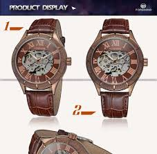 whole forsining leather straps vogue coffee color simple whole forsining leather straps vogue coffee color simple skeleton watch for mens forsining watch