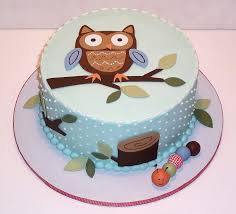 Easy Cake Decorating Ideas For Children  Owl Cakes Owl And CakeBaby Shower Owl Cake Toppers
