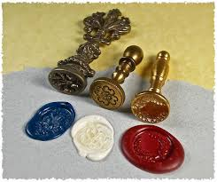 three antique wax seals from my collection primarily used to create sterling wax seal jewelry