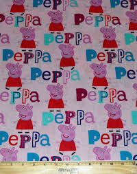 PEPPA PIG FABRIC / 1/2 Yard For Quilting / Pink / Cotton & Like this item? Adamdwight.com