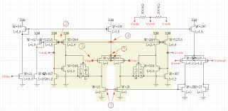 xcircuit schematic capture tutorial page differential amplifier complete schematic