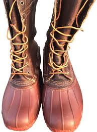l l bean bison leather brick red boots image 0