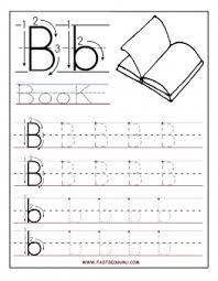 printable letter b tracing worksheets for preschool