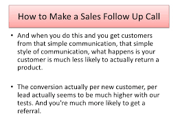 sales follow up small business marketing tip how to make a sales follow up call