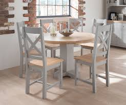 Painted Round Kitchen Table Grey Dining Table Clemence Grey From Big Blu