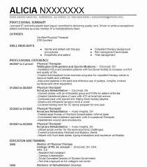 Therapist Resume Template Physical Therapy Resume Unforgettable Physical Therapist Resume