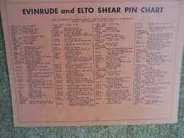 Details About 1952 Evinrude Elto Outboard Motor Spark Plug Shear Pin Lubrication Chart L