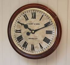 large industrial factory wall clock