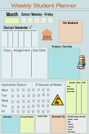 Student Weekly Planner Template Weekly Student Planner Template Postermywall