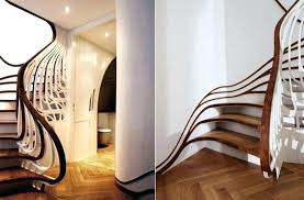 basement stairs decorating ideas basements staircase cool finishing attractive inspiring curved wall banist