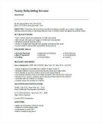 Baby Sitting Resume Simple Babysitting Jobs No Experience Bino48terrainsco