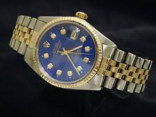 rolex datejust 16013 wrist watch for men mens rolex 2tone 18k gold steel datejust jubilee w submariner blue diamond 16013