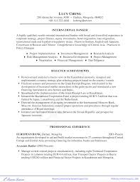 Professional Investment Banking Resume Templates At