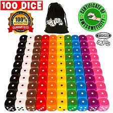 vivorr premium dice set of 100 pieces 10 colors 10 of each color