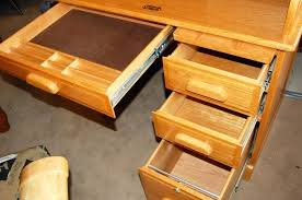 how to build a desk with drawers the sliding drawer hardware on this is flawless definitely