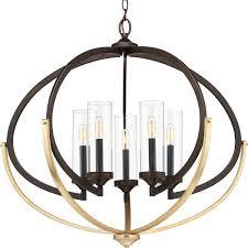 progress lighting p400117 020 evoke antique bronze 5 light chandelier tap to expand
