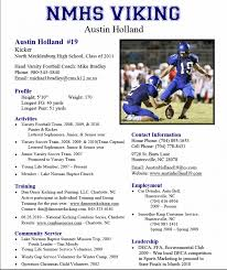 ... Athletic Resume Template Free