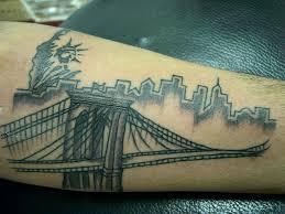 Tattoo 11 Brooklyn Bridge Statue Of Liberty Tattooed Feb Flickr