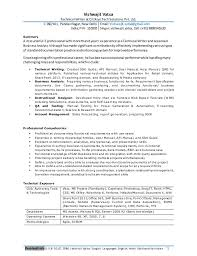 Business Analyst Resume Keywords Interesting Professional Resume For Experienced Business Analyst Technical Writer