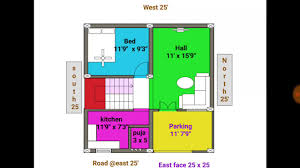 1bhk 24 25 east face duplex house plan map