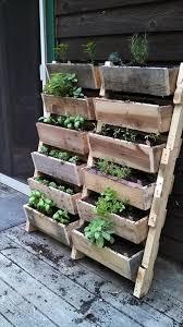 wood pallet wall planters wall planter garden
