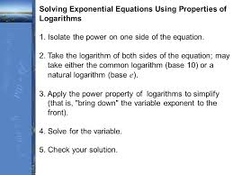 14 solving exponential equations using properties of logarithms