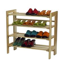 Shoe Storage Furniture Cool Black Stackable Shoe Rack With Iron Material And