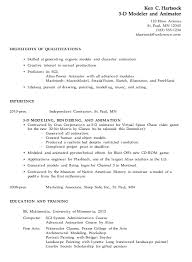 combination resume sample 3d modeler animator landscape resume samples