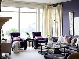 small living room decoration in purple