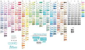 Copic 358 Color Chart Artouro Enterprise Artouro Brunei