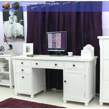 white airy home office. desk home office white corner computer felix ash twin pedestal airy i