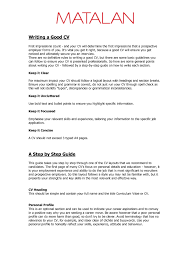 example of good cv layout best photos of good cv template example good resume template a good
