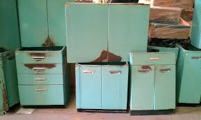 Old Metal Cabinets Refinishing Old Metal Kitchen Cabinets Picture On Kitchen Cabinet