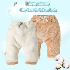 Us 11 35 49 Off 2018 Winter Baby Pants For Newborn Boys Girls Leggings Cotton Faux Fur Thick Baby Trousers Baby Winter Clothes Boy Girls Pant In
