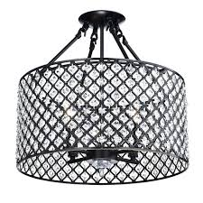 semi flush drum ceiling light 4 oil rubbed bronze round mount crystal chandelier uk