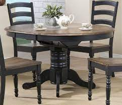 From small and round farmhouse dining tables for a breakfast nook, to long and grand ones for a dining room, there are a number of shapes and sizes to choose from. Brown Farmhouse Table With Black Chairs Novocom Top