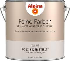 Premium Wandfarbe Grau Hellgrau Alpina Feine Farben Poesie Der