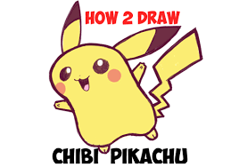 anime chibi pikachu drawing. Delighful Chibi How To Draw Cute Baby Chibi Pikachu From Pokemon  Step By Drawing  Tutorial Tutorials Throughout Anime E