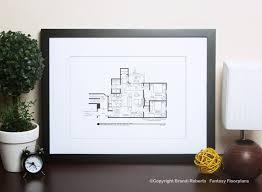 friends apartment floor plan poster