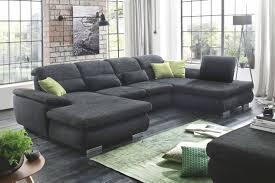 Couch Grau Leder