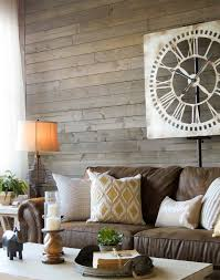 Wood Walls In Living Room A Farmhouse Living Room That Will Make You Want A Brown Sofa