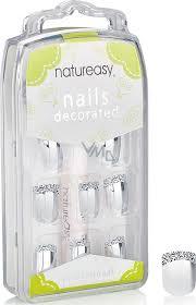 Diva Nice Natureasy Nails Decorated Nalepovací Nehty Stříbrné S černo Bílou Aplikací 24 Kusů Lepidlo 2 G
