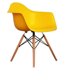 ray eames furniture. charles ray eames style daw arm chair yellow furniture