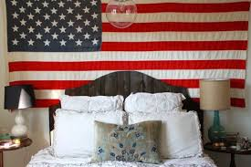 4th Of July Bedroom Decor American Flag Wall Art Patriotic Background